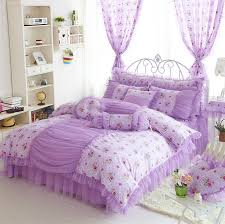 Girls Queen Size Bedding Sets by Purple Princess Bedrooms Korean Style Princess Lace Bedding Sets