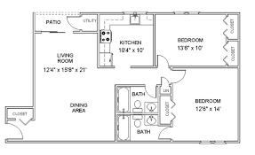 2 Room Flat Floor Plan Apartment Floor Plans Two Bedroom Apartments In Clifton Park New