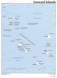 Caribbean Islands Map by Leeward Islands Map Caribbean U2022 Mappery