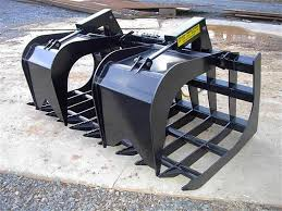 grapple quick attach and grapple for industrial tractor loader