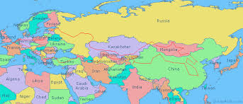 asain map map of europe and asia travelquaz
