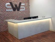 Concrete Reception Desk Concrete Countertops Pictures Gallery The Concrete Network