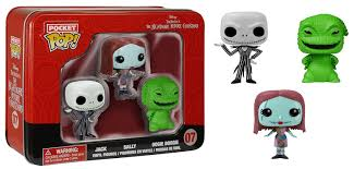disney nightmare before christmas pop figures in a tin