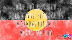 Indigenous Flags Of Australia Changethedate Aboriginal Flag Nail Art Not My Australia Day