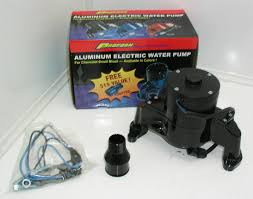 automotive electric water pump proform sbc aluminum electric water pump black