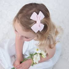hair bow with hair velvet bow hair clip pale pink velvet hair bow pink pink velvet