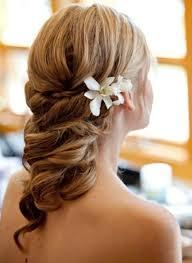 Hochsteckfrisurenen Hochzeit Mit Blumen by Hochzeitsfrisuren Mittellanges Haar Weiße Blume Hochzeit