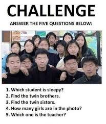 Challenge Asian Challenge Of The Day Asian Students Common Sense Evaluation