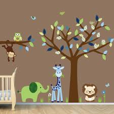 vintage rabbit nursery wall decal fabric animal wall sticker large size of baby nursery cool animal nursery decal jungle tree wall sticker vinyl art