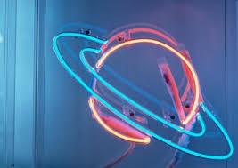 neon blue lights