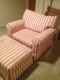 haverty s overstuffed chairs and ottomans with stripes haverty s quality