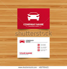Car Name Card Design Vector Logo Design Element Business Card Stock Vector 230833990