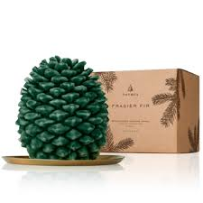 thymes frasier fir northwoods pinecone candle petite