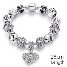 crystal charm bracelet beads images Silver charm bracelet milestone keepsakes jpg