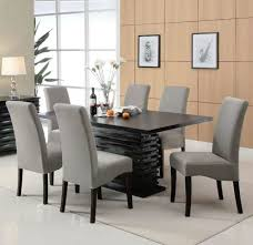 7 piece dining set with black rectangular table furniture store