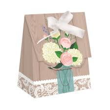 wedding favor bags rustic wedding mini favor bags with ribbons