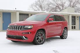 srt jeep red snow day in an srt grand cherokee rod network