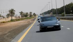 porsche fashion grey cruising dubai in style with porsche middle east cars