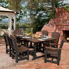plastic rectangular outdoor table outdoor little cottage heritage recycled plastic 7 piece rectangular