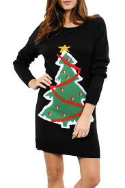 womens ladies knitted christmas xmas elf costume oversized baggy