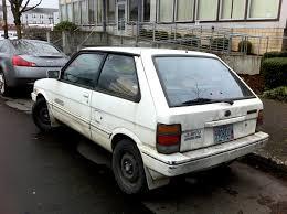 old subaru hatchback old parked cars 1988 subaru justy rs