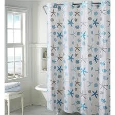 Seashell Shower Curtains Hookless Seashell Shower Curtain Reviews Wayfair