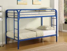 Metal Bunk Bed Frames Blue Wall Color Idea Feat Simple Space Saving Metal Bunk Bed
