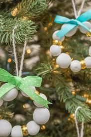 diy wood bead ornaments a pretty fix