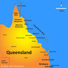 map of queensland queensland map showing attractions accommodation