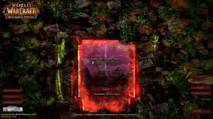map login of warcraft warlords of draenor exclusive login screens