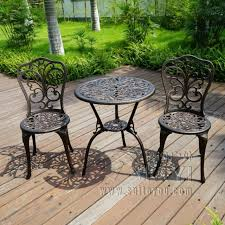 Aluminum Bistro Table And Chairs New Patio Furniture Modern Design Cast Aluminum Bistro Set In