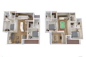 4 bed 4 bath floorplan the draper student apartments near ku