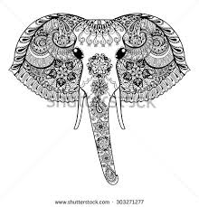 outline drawing indian elephant stock images royalty free images