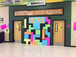 video game themed dance decorations tetris asb decor that we