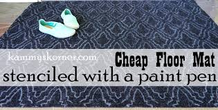 Cheap Outdoor Rugs by Kammy U0027s Korner Use A Paint Pen To Stencil A Cheap Outdoor Rug