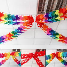 paper ribbons buy paper cut garland wedding event birthday party supplies