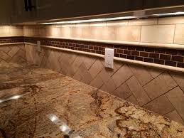 Copper Backsplash Kitchen Herringbone Travertine And Copper Backsplash Interior Design