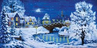 Christmas Photo Backdrops Ch018c Dp3 Christmas Village 7c