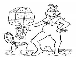 grinch stole christmas coloring pages kids coloring