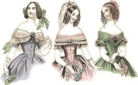 1840s victorian gowns