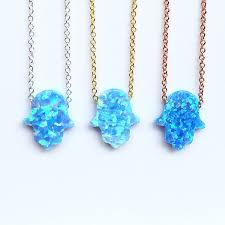 dark blue opal new opal hamsa hand necklaces opal hand sale opal hamsa sale