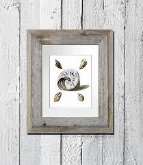 nautical bathroom decor ideas decorative rustic wooden framed seashell wall decor bathroom for