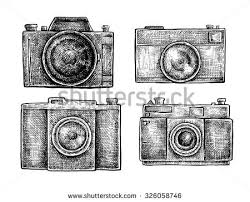 hand drawn camera collection vector download free vector art