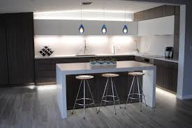 kitchen island panels caesarstone alpine mist kitchen with height splash and island