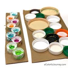 recycling caps and lids into a gel printing tool carolyn dube