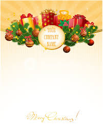 christmas gift vector decorative template with bows gift boxes