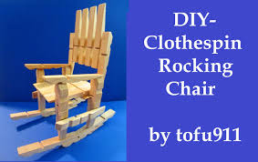 Mini Rocking Chair How To Make A Clothespin Rocking Chair Youtube