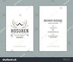 Crown Business Cards Business Card Design Deer Horns Crown Stock Vector 381533992