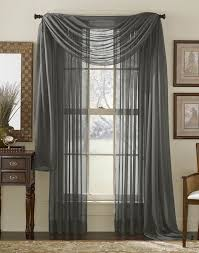 amazon com hlc me plum sheer voile window curtain scarf valance