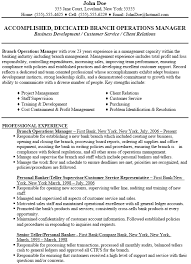 operations manager resume template administrative officer cover letter branch operations manager